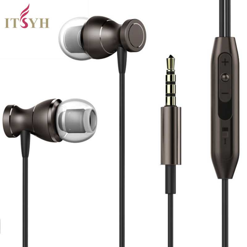 Magnet bass Earphones with microphone Silicone In-Ear Phone Accessories HIFI music earphone for phone mp3 mp4 3.5mm Jack TW-812 купить