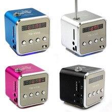 Micro SD TF USB Портативный fm-радио с динамиками мобильного телефона вибрации компьютер музыка fm-радио плеер TDV26R