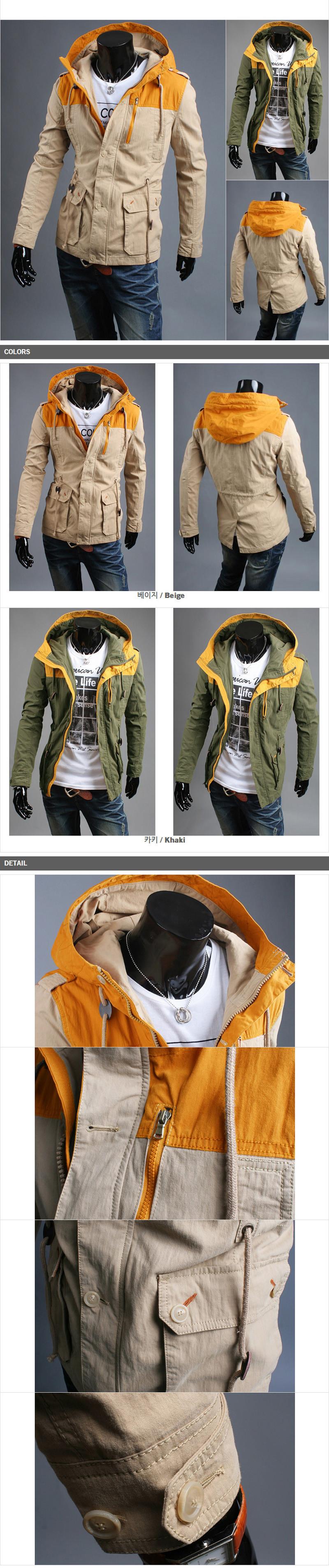 осень и зима мода новинка свободного покроя куртки мужчины, верхняя одежда мужская пальто куртка, красочные тонкий 2цвет-95658