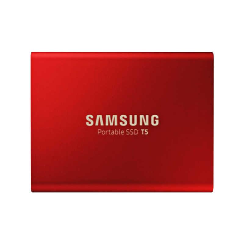 "Samsung Portable SSD T5 250 Gb 500 GB 1 TB External Solid State HD Hard Drive 2.5 ""USB 3.1 gen2 (10 Gbps) untuk Laptop Desktop"