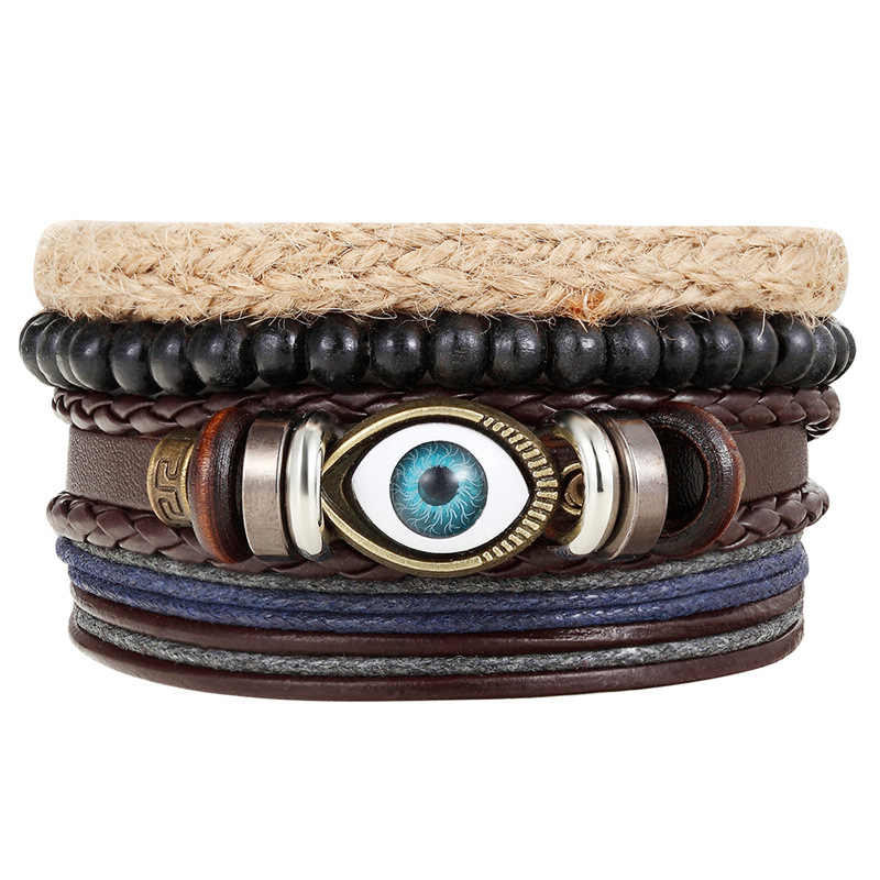 Retro Leather bangles For women men Bracelet Bracelets bangle pulsera para hombre Pulseira Masculina pulseras hombre