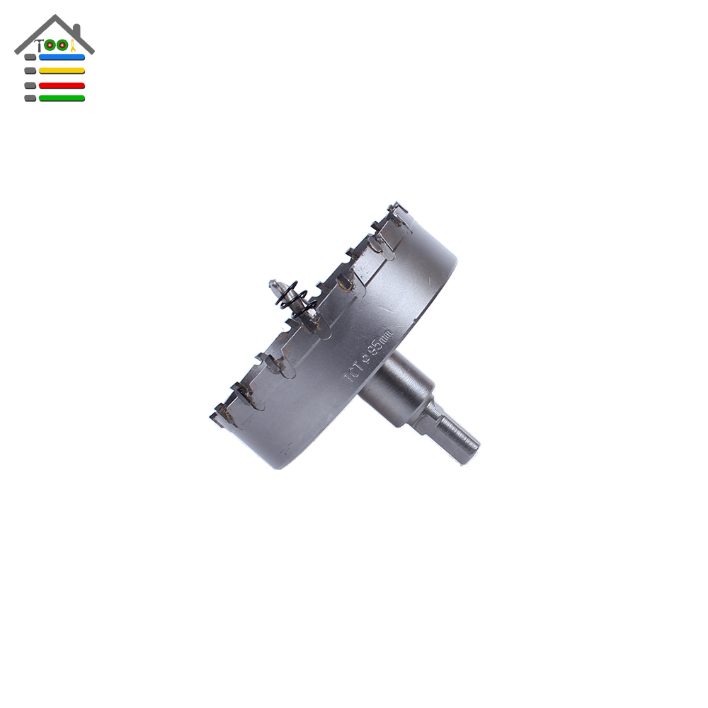 95mm Metal Hole Saw Tungsten Carbide Tip TCT Drill Bit Set for Metalworking Stainless Steel Alloy Drilling Tipped Cutter Tool high quality 120mm stainless steel tct drill bit carbide tip fit hole saw set for metal alloy drilling core cutter big size