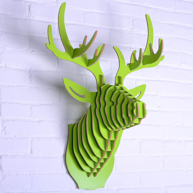 projects ideas dear head. Free shipping 3D Puzzle Wooden DIY Model Wall Hanging deer Head elk  head wood gifts craft Home decoration Animal Wildlife in Statues Sculptures from