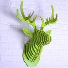 Free shipping 3D Puzzle Wooden DIY Model Wall Hanging deer Head elk deer head wood gifts craft Home decoration Animal Wildlife