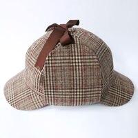 Detektyw Sherlock Holmes Kapelusz Nowość Prezenty Deerstalker Cosplay Hat Cap Unisex Kostiumy Filmowe Płaskie Czapki Hip Hop Akcesoria