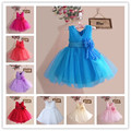 2016 High Quality Custom Summer Girls Princess Children Dress Party Cloth Vestidos Infants Dress Party Baby Kids Wedding Dresses