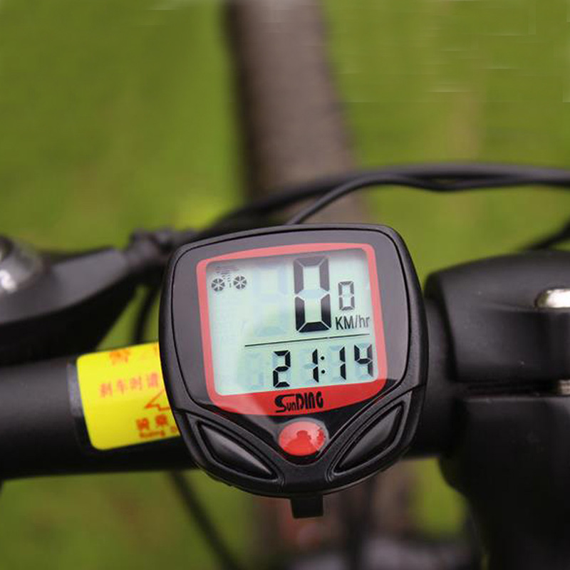 Waterproof Wired LCD Odometer Speedometer for Bike Bicycle Cycling Computer exp