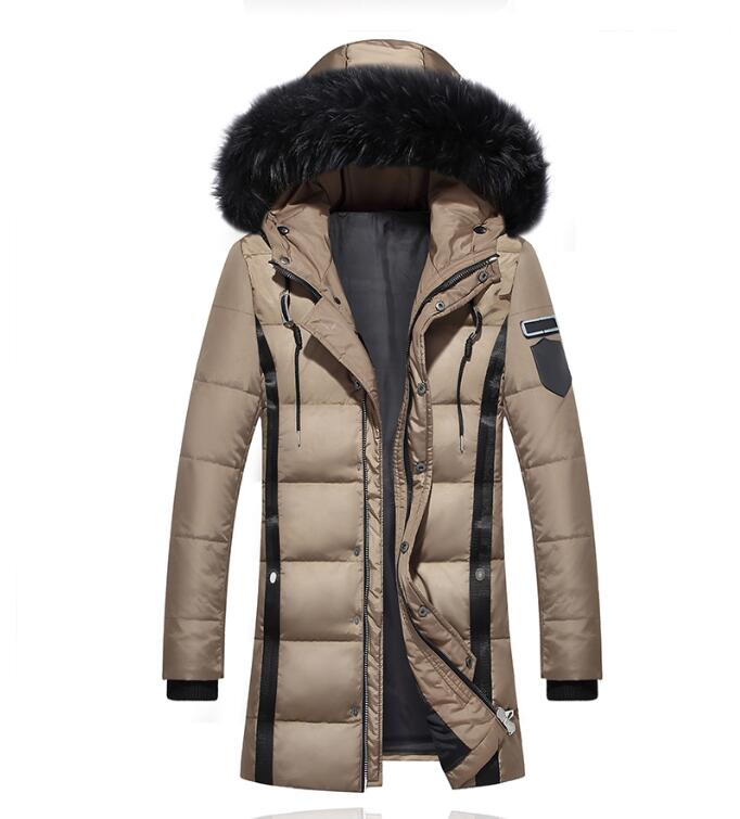 Hard-Working Downs Jackets Men 2018 White Duck Down Jacket Winter Bodywarmer New Men's Longsleeve Hooded Parka Fur Collar Hat Men's Down Coat To Be Distributed All Over The World
