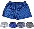 (1 Pçs/lote) de Seda boxers Curtos, cetim dos homens Roupa Interior, Homewear Homens Cueca Plus Size M, L, XL, XXL Multicolor em estoque