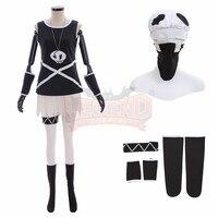 Pokemon Sun and Moon Team Skull Grunts Female Cosplay Costume Cosplay Costume custom made halloween costume with hat