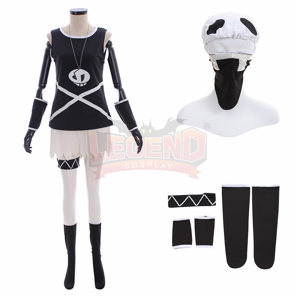 Pokemon Sun and Moon Team Skull Grunt Outfit Cosplay Costume Customized