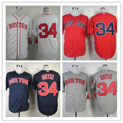 Top Quality Boston Red Sox Jersey  34 David Ortiz Baseball Jersey Black Red  White Jersey Wholesale Price Fast Shipping 6425d389d22
