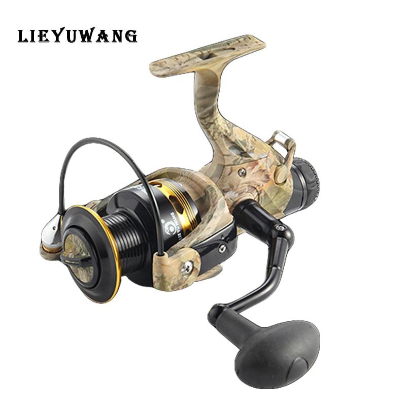 LIEYUWANG TB5000 moulinet de pêche à filature métallique avec système de freinage avant et arrière