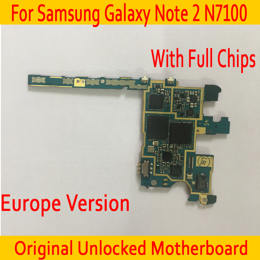 EU Version for Samsung Galaxy Note 2 N7100 Motherboard with OS System,16GB Original unlocked for Samsung Note 2 N7100 MainboardEU Version for Samsung Galaxy Note 2 N7100 Motherboard with OS System,16GB Original unlocked for Samsung Note 2 N7100 Mainboard