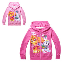 anime paw cute patrol kid hoodie sweatshirt cotton lovely dog pattern hoodie for 3-8yrs children teenager outerwear clothes hot