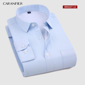 Image 2 - CARANFIER New Hot Selling Winter Casual Shirt Warm Long Sleeve Plaid Shirts Thick Velvet Mens Brand Dress Shirts Male Slim Fit