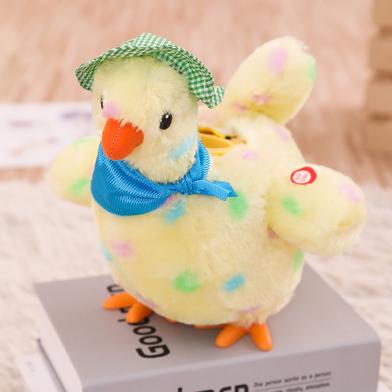 Laying Eggs Chicken Plush Toy Electric Hen Musical Dancing Baby Kids Gifts