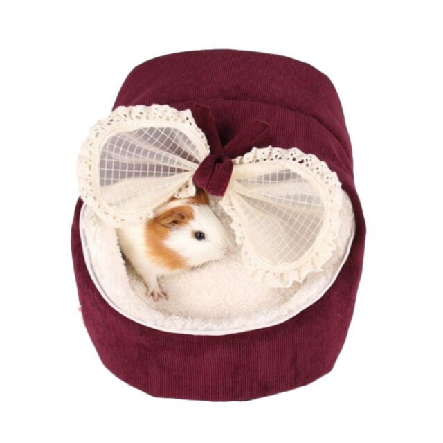 d2e9cb5aaf63 US $7.65 27% OFF|Cute Cat Bow House Dog Bed Pet Bed Warm Soft Dogs Kennel  Dog House Pet Sleeping Bag Cat Bed Cat House Cama Perro-in Cat Beds & Mats  ...