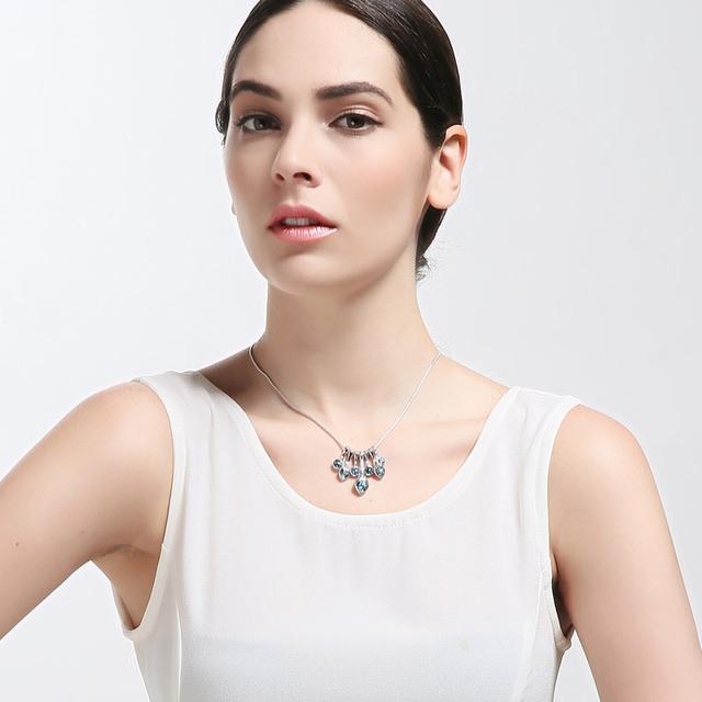 Swarovski Crystal & Rhinestone Charm Long Necklace