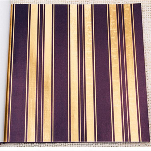 China Lieferant Luxuriöse Streifen Muster Braun Goldene Farbe ...