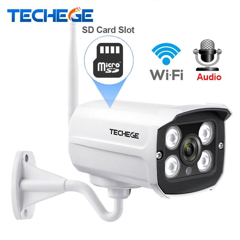 Techege MINI 1280*720 p del IP di WIFI Della Macchina Fotografica Audio Impermeabile HD di Rete 1.0MP wifi della macchina fotografica nignt vision Outdoor wireless macchina fotografica Yoosee