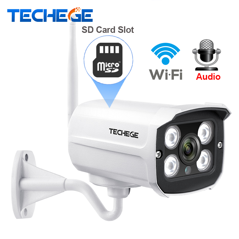 Techege MINI 1280*720P WIFI IP Camera Audio Waterproof HD Network 1.0MP wifi camera nignt vision Outdoor wireless camera Yoosee 720p wifi ip camera waterproof hd network 2mp lens wifi camera day nignt vision in outdoor ip camera with free power adapter