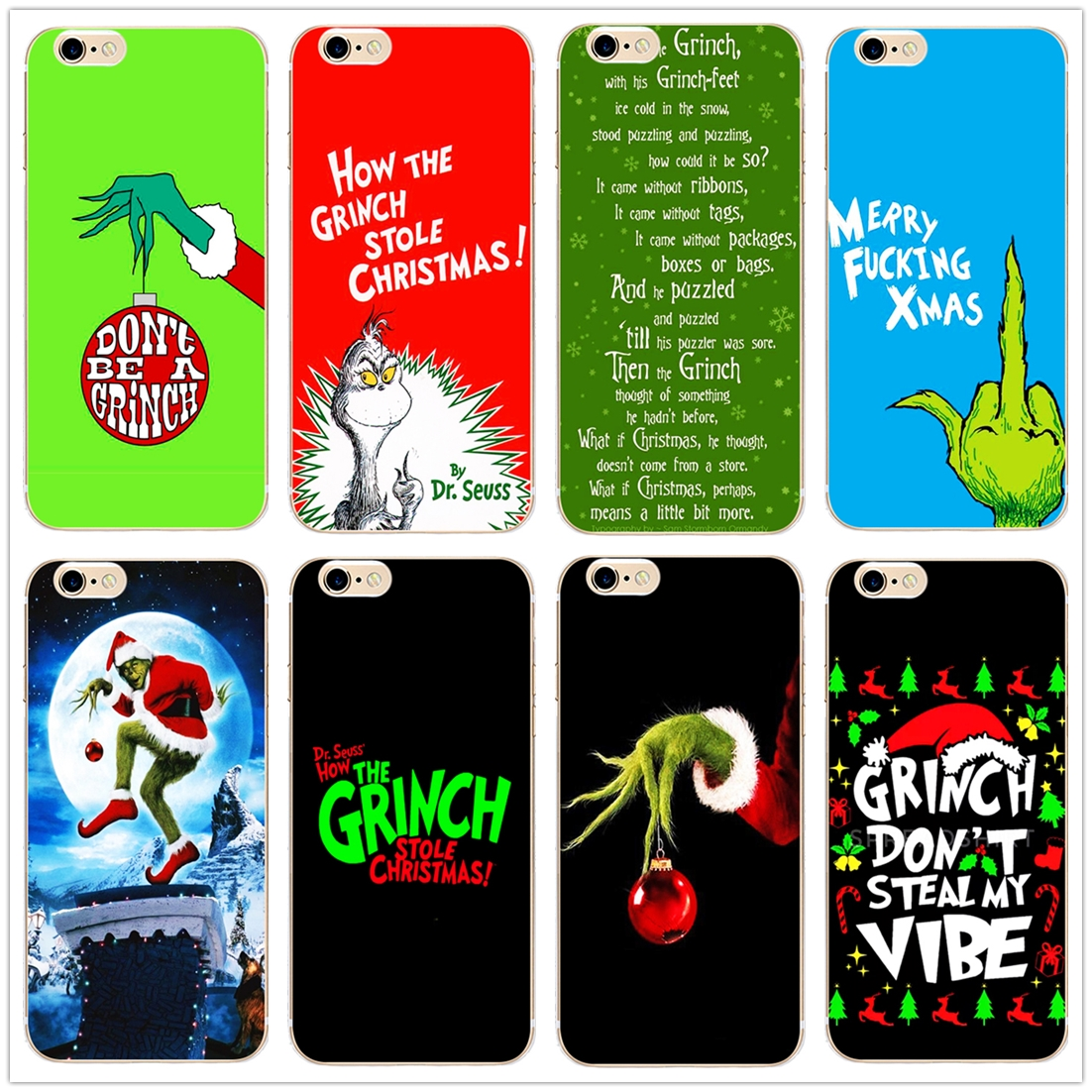 Christmas Grinch Xmas <font><b>funny</b></font> hard phone <font><b>case</b></font> cover for <font><b>iPhone</b></font> 11 Pro Max 6 7 8plus 5S 4 X XS XR XSMax For Samsung s9 s8plus s7 s6 image
