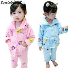 ab05ae265 Crianças Pijama Para Meninas Sleepwear Fleece Baby Girl Pijamas Criança  Meninas Conjunto de Roupas de Natal