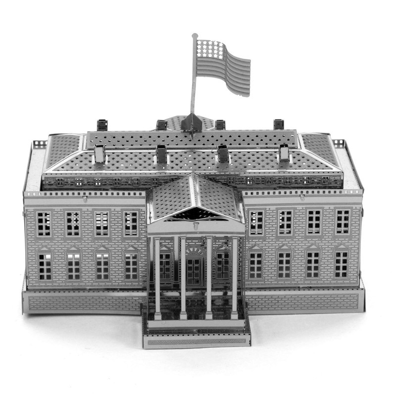 casa blanca divertido d de metal diy de acero escala miniatura modelo adultos mana creativa