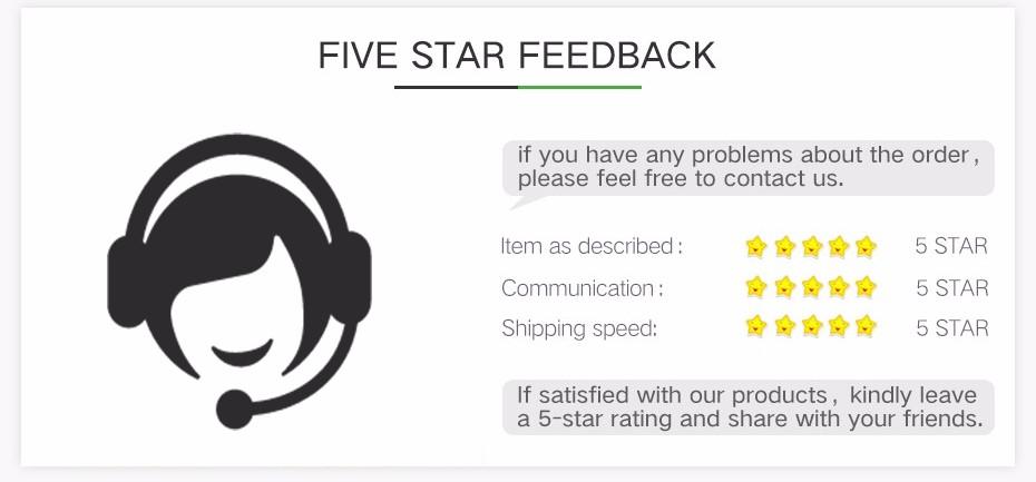 3-5 star feedback