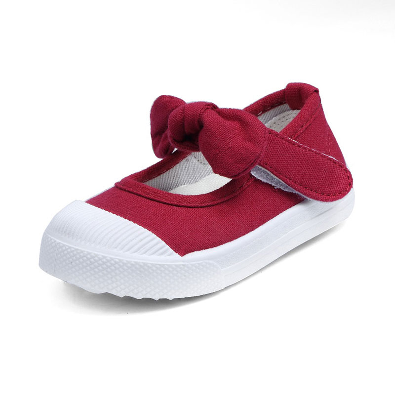 Special Price 2019 New Children Canvas Bow-tie Children Cute Shoes Girls Princess Falt Shoes