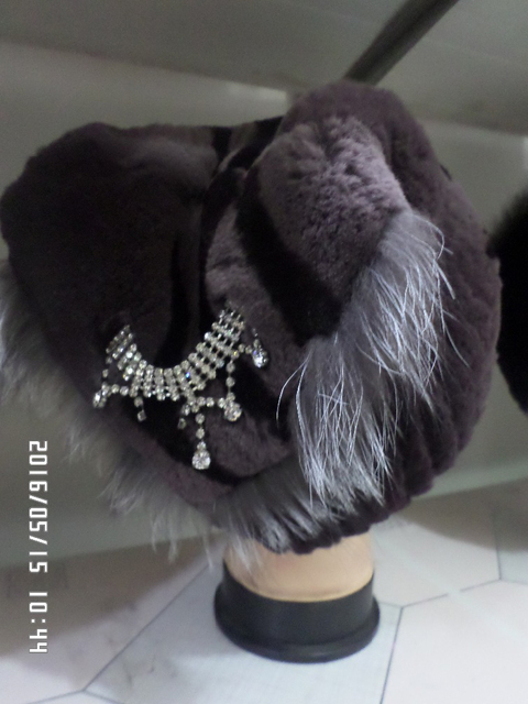 Newest rabbit fur hats real fur winter warm rabbit fur women cap freeshipping