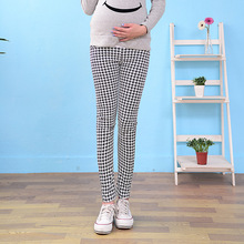 Summer Maternity Pants for Pregnant Women Maternity Clothes Plaid Skinny Leggings Pregnancy Pants Maternity Clothing P-014
