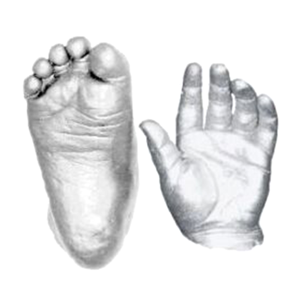 High Quality 3D Plaster Handprints Footprints Baby Hand & Foot Casting Mini Kit Keepsake Gift