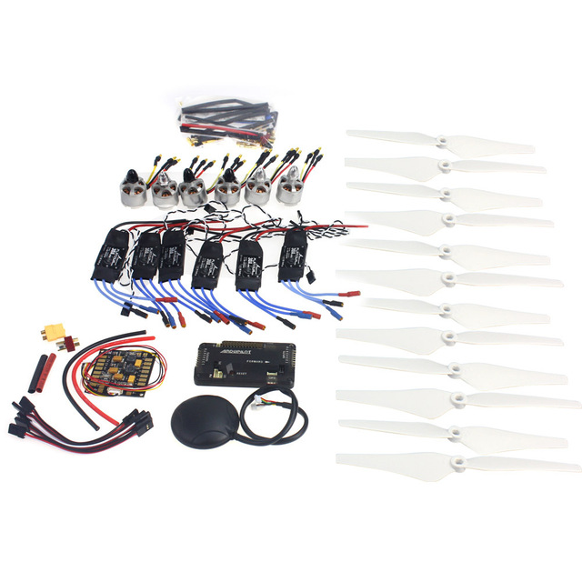 Acessórios eletrônicos GPS APM2.8 D2212 920KV Brushless 30A Do Motor ESC Hélice para MultiCopter Hexacopter UFO Heli F14711-G
