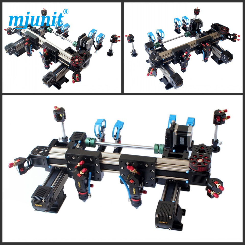 mjunit 1290 aluminum alloy linear guide double - head laser machine suite