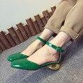 Sandálias de verão Mulheres Sapatos-Salto Alto Tornozelo fivela PU + Camurça Sapatos de Festa Mulher sh020126