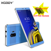 XGODY 3G Dual Sim Celular Smartphone 6 Inch 18:9 Full Screen Mobile Phone Android 8.1 Quad Core 1GB+8GB GPS WiFi 5MP Cellphone