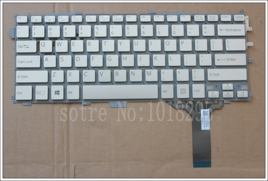 NEW FOR Sony VAIO Pro 13 SVP13 SVP13A SVP132 SVP1321 SVP132A US Silver Laptop Keyboard 149243621