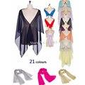 21 Colores! Gasa escarpada Capas de Novia de La Boda Wraps Shrugs Robó Dama de Honor Vestido de Noche de Las Mujeres Chales (71 pulgadas * 19 pulgadas)