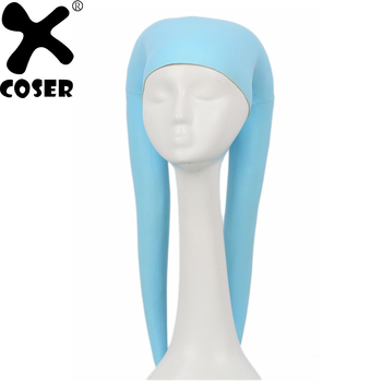 XCOSER Star Wars Twi'lek Headgear Blue Latex Cosplay Props Halloween Masquerade Personality Costume Helmet Mask Accessories