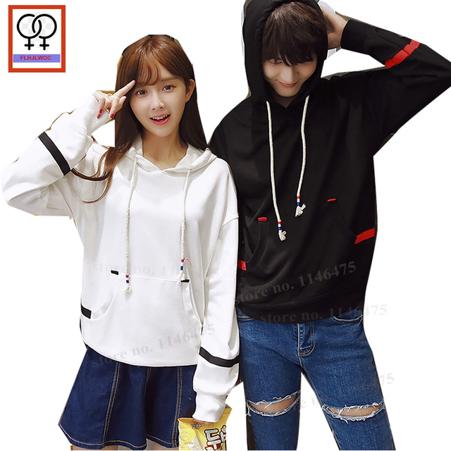 5602d55faa Lovers Cute Couples Clothes Men Women Lovers Casual Hooded Tops Loose  Cotton Sweatshirts Sweet Korean Matching Couple Hoodies