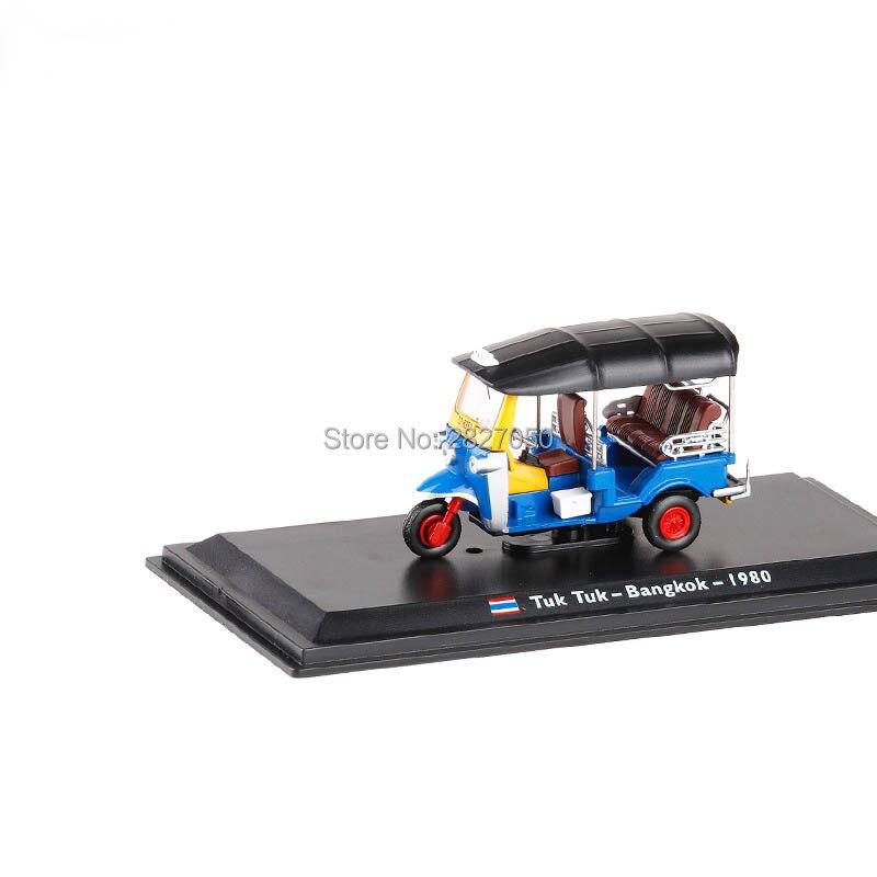 1/43 Thaïlande Tuk Tuk taxi Métal Modèle jouet voitures 1980 Bangkok Alliage de voiture jouets pour enfants Décoration Collection Cadeau