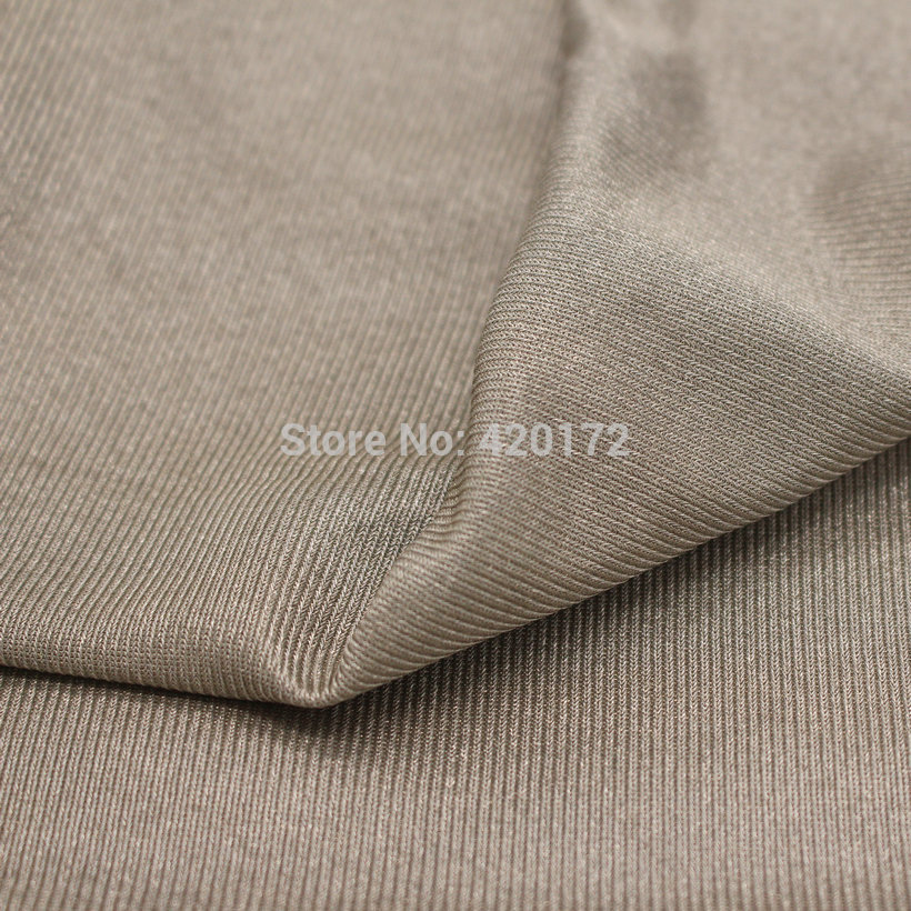 100% SILVER FIBER Stretchable FABRIC Radiation Protection Material Silver Conductive Fabric EMF RFID Blocking Fabric