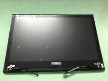 Tela sensível ao toque lcd + capa traseira superior + moldura dianteira + display preto para sony vaio pro 13 pro13 svp13 svp132 caso do portátil + cabo de tela dobradiças