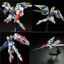 Japaness Bandai Gundam Model RG 1/144 WING ZERO GUNDAM EW Justice Freedom 00 Destiny Armor Unchained Mobile Suit Kids Toys