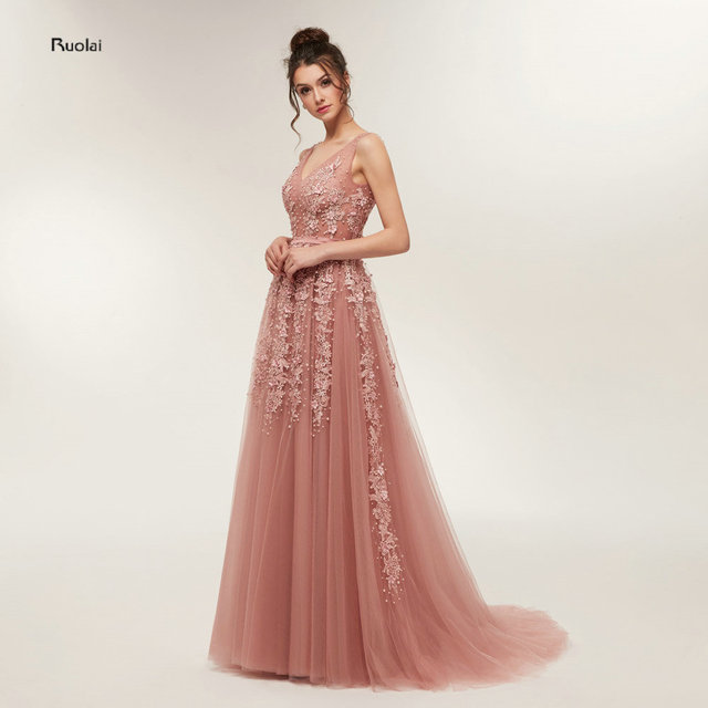 Real Sample Sexy Evening Dresses Long 2018 Evening Gown V Neck Open