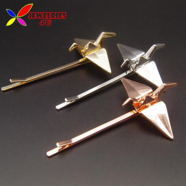 New Hairpins Fashion Deisnger Lovely Alloy Origami Figure Hair Clip Jewelry Accessories For Women Pinzas De
