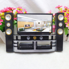 21cm Mini Hi-Fi 1:6 TV Home Theater Cabinet Set Combo For Barbie Doll Accessories Appliance Baby Toy Christmas gift