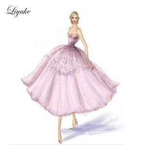 Image 2 - Liyuke индивидуальный пошив свадебного платья а силуэта в соответствии с запросом клиента таможенный сбор, пожалуйста, свяжитесь с нами перед покупкой